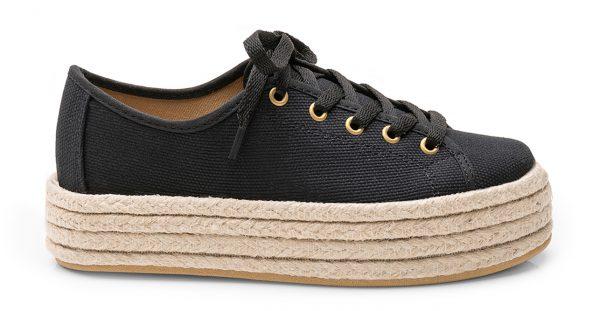 Sneaker Plataforma Negro